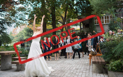 3 Reasons To Skip The Bouquet And Garter Toss At Your Wedding.